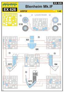 Eduard-EX-626-Blenheim-Mk.-IF-Masken-2-208x300 Eduard EX 626 Blenheim Mk. IF Masken (2)