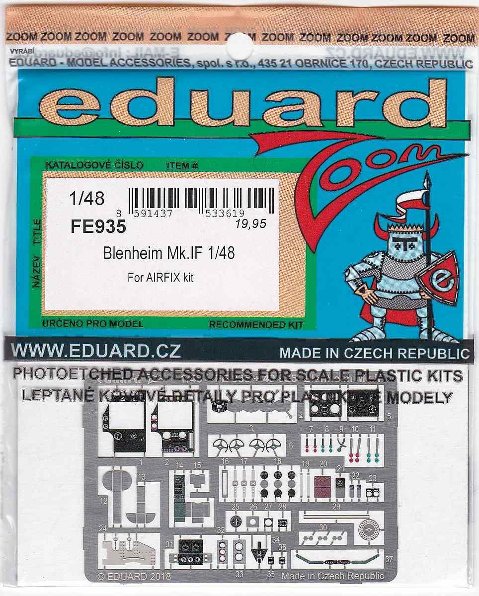 Eduard-FE-935-Blenheim-Mk.-IF-ZOOM EDUARD Detailsets für die neue Blenheim Mk. IF in 1:48 von Airfix