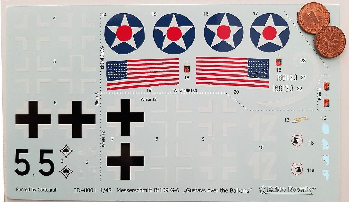 Exito-Decals-Bf-109-G-6-8 Gustavs over the Balkans - Messerschmitt Bf 109 G-6 von Exito Decals 48001