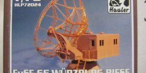 FuSE 65 Würzburg Riese German Radar Station im Maßstab 1:72 von Hauler HLP 72024