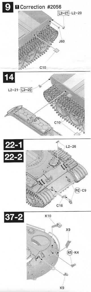Korrekturhinweise T-55A 1:35 Takom (#2056)
