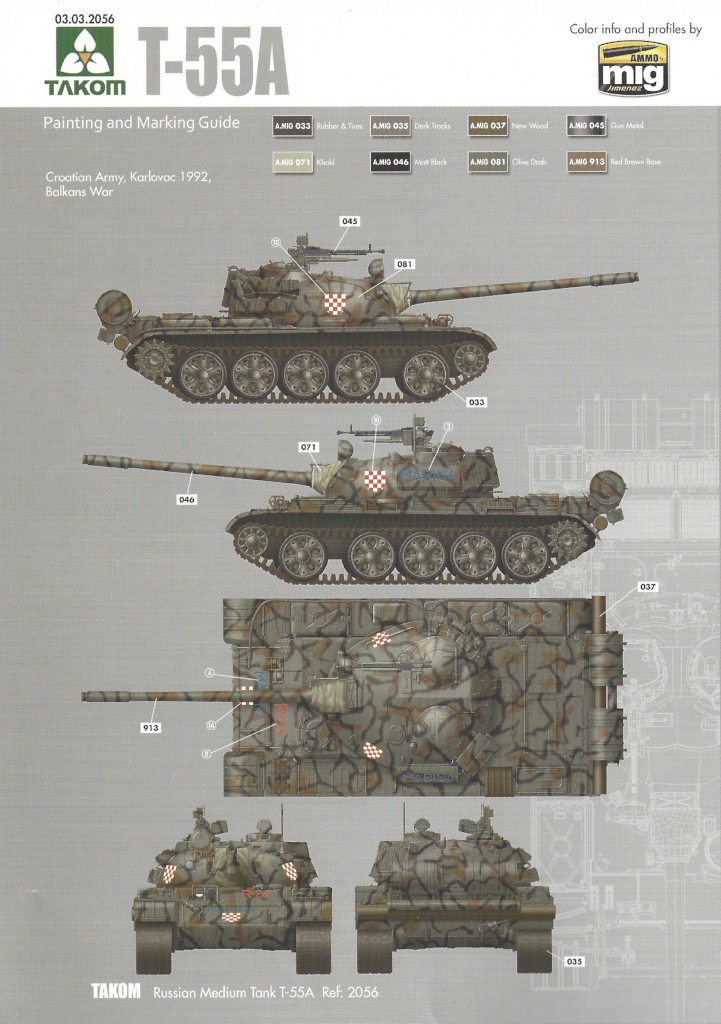 Markierungsvariante1 T-55A 1:35 Takom (#2056)