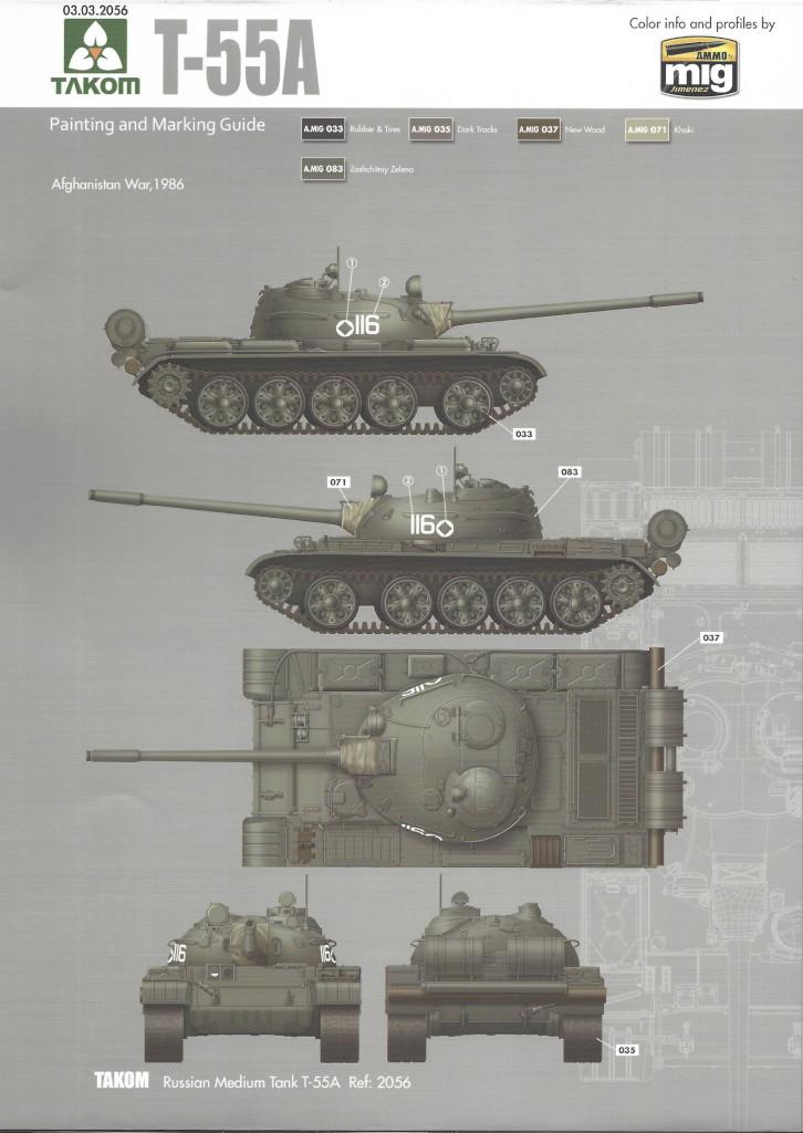 Markierungsvariante4 T-55A 1:35 Takom (#2056)