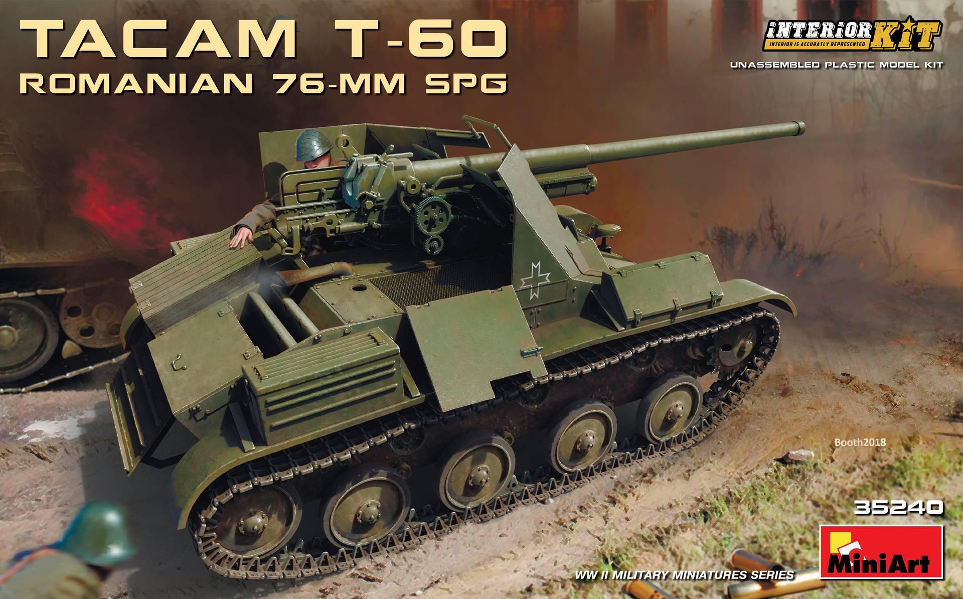 MiniArt-35240-TACAM-T-60-1 Rumänischer 7,62mm Panzerjäger TACAM auf Fahrgestell T-60 von MiniArt 35240