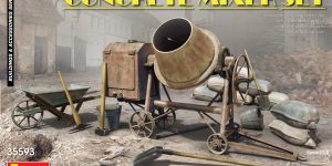 Concrete Mixer Set im Maßstab 1:35 von MiniArt 35593