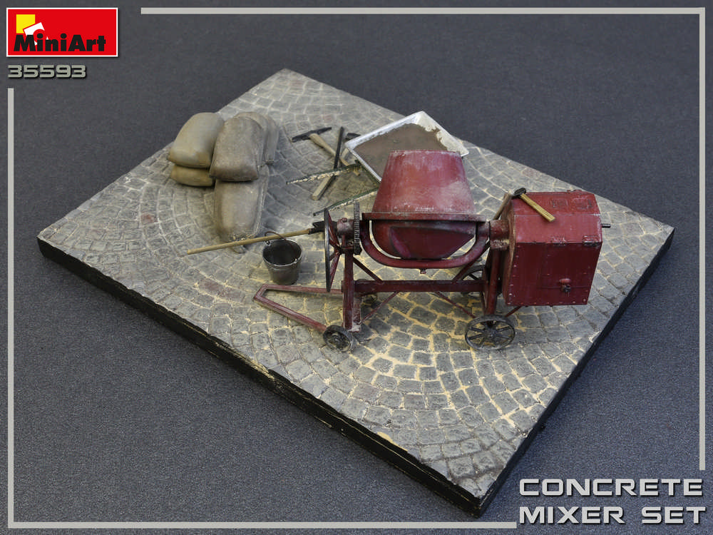 MiniArt-35593-Concrete-Mixer-Set-4 Concrete Mixer Set im Maßstab 1:35 von MiniArt 35593