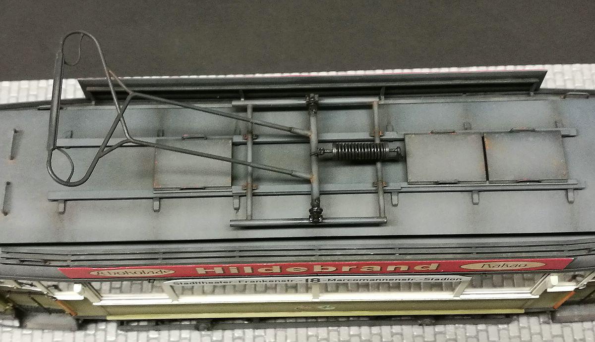 MiniArt-38003-German-Tram-Car-641-Gallerie-Dach Gebaut - der Triebwagen 641 im Maßstab 1:35 von MiniArt 38003