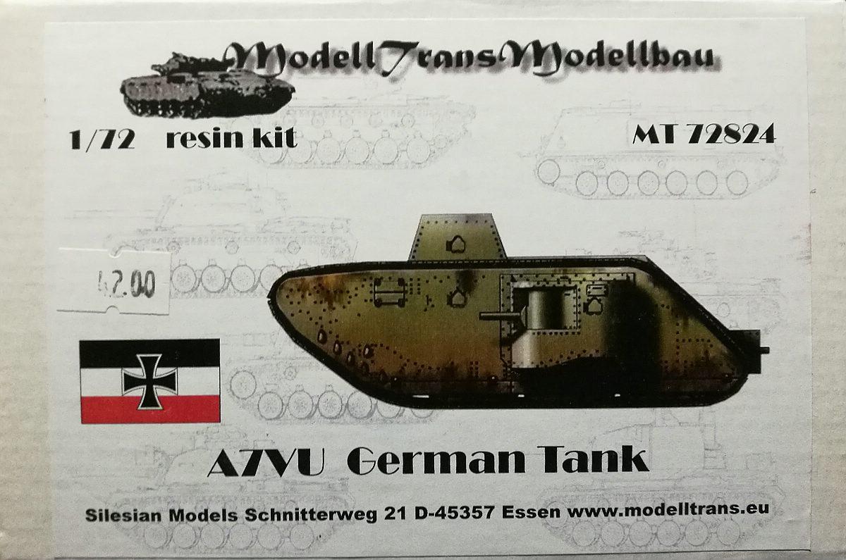 ModellTrans-MT-72824-A7V-U-1 A7V-U im Maßstab 1:72 von ModellTrans MT 72824