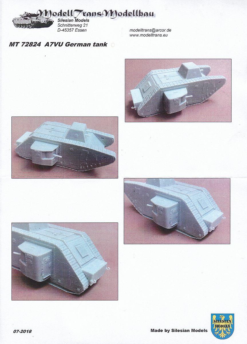ModellTrans-MT-72824-A7V-U-23 A7V-U im Maßstab 1:72 von ModellTrans MT 72824