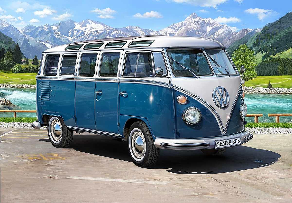 Revell-00455-Volkswagen-T1-Samba-Bus Revell-Neuheiten 2019 - das II. bis IV. Quartal