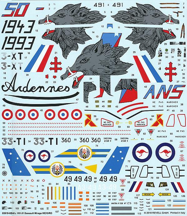 Revell-03919-MIRAGE-III-E-RD-O-53 Mirage III E/RD/O im Maßstab 1:32 von Revell 03919