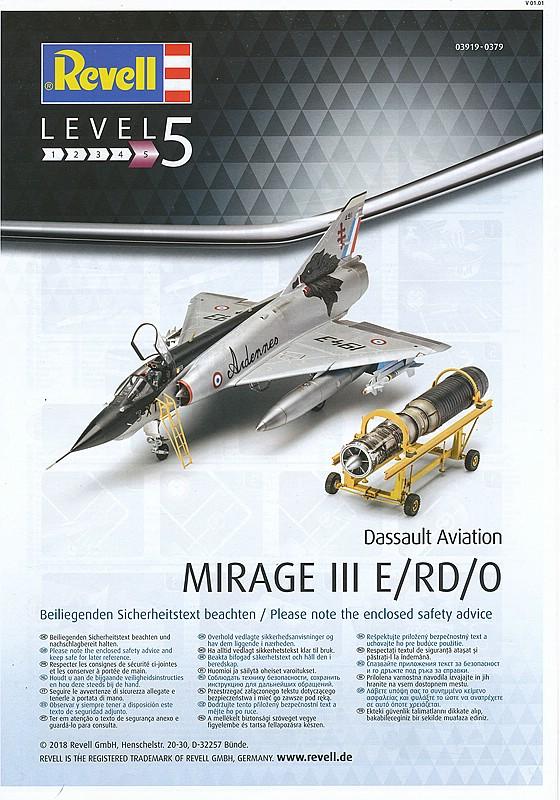 Revell-03919-MIRAGE-III-E-RD-O-62 Mirage III E/RD/O im Maßstab 1:32 von Revell 03919