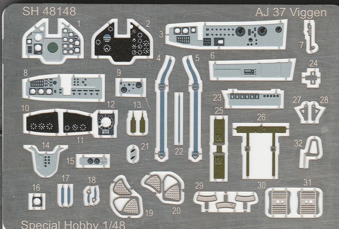 """Special-Hobby-SH-48148-Saab-AJ-38-Viggen-Attack-Version-Updated-Edition-9 SAAB AJ 37 Viggen """"Attack Version"""" Updated Edition von Special Hobby SH 48148"""
