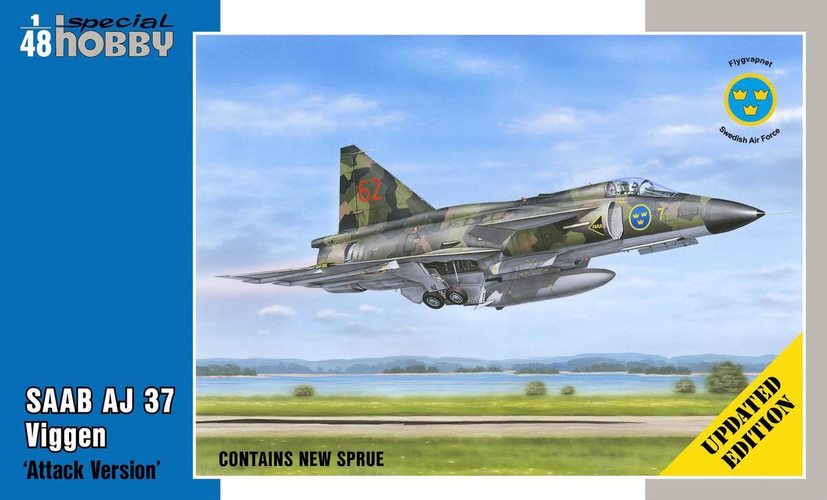 """Special-Hobby-SH-48148-Saab-AJ-38-Viggen-Attack-Version-Updated-Edition SAAB AJ 37 Viggen """"Attack Version"""" Updated Edition von Special Hobby SH 48148"""
