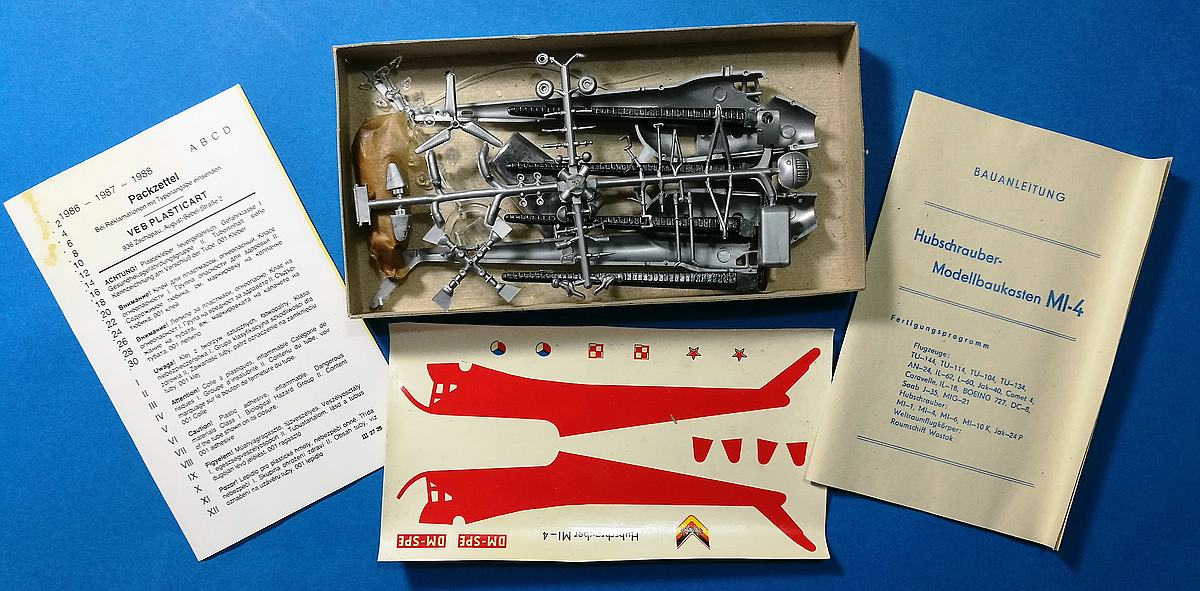 VEB-Plasticart-Mil-Mi-4-19 Kit-Archäologie: Mil Mi-1 und Mil Mi-4 im Maßstab 1:100 von VEB Plasticart