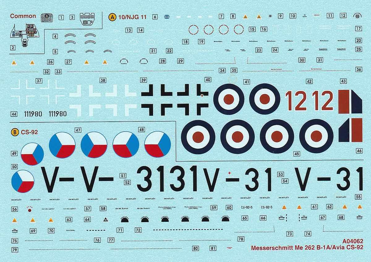 Airfix-A-04062-Messerschmitt-Me-262-B-1a-2 Messerschmitt Me 262 B-1a im Maßstab 1:72 von Airfix A04062
