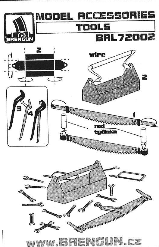 Anleitung-1 Tools 1:72 Brengun (#BRL72002)