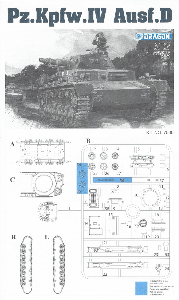 Anleitung1 Pz. Kpfw. IV Ausf. D 1:72 Dragon (#7530)