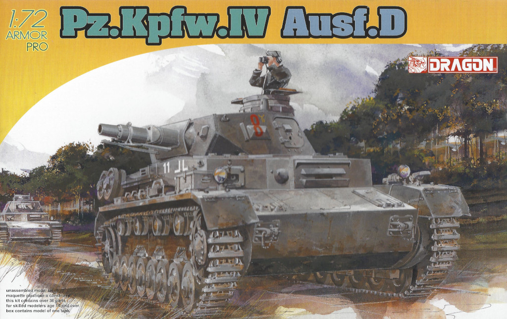 Box-1 Pz. Kpfw. IV Ausf. D 1:72 Dragon (#7530)
