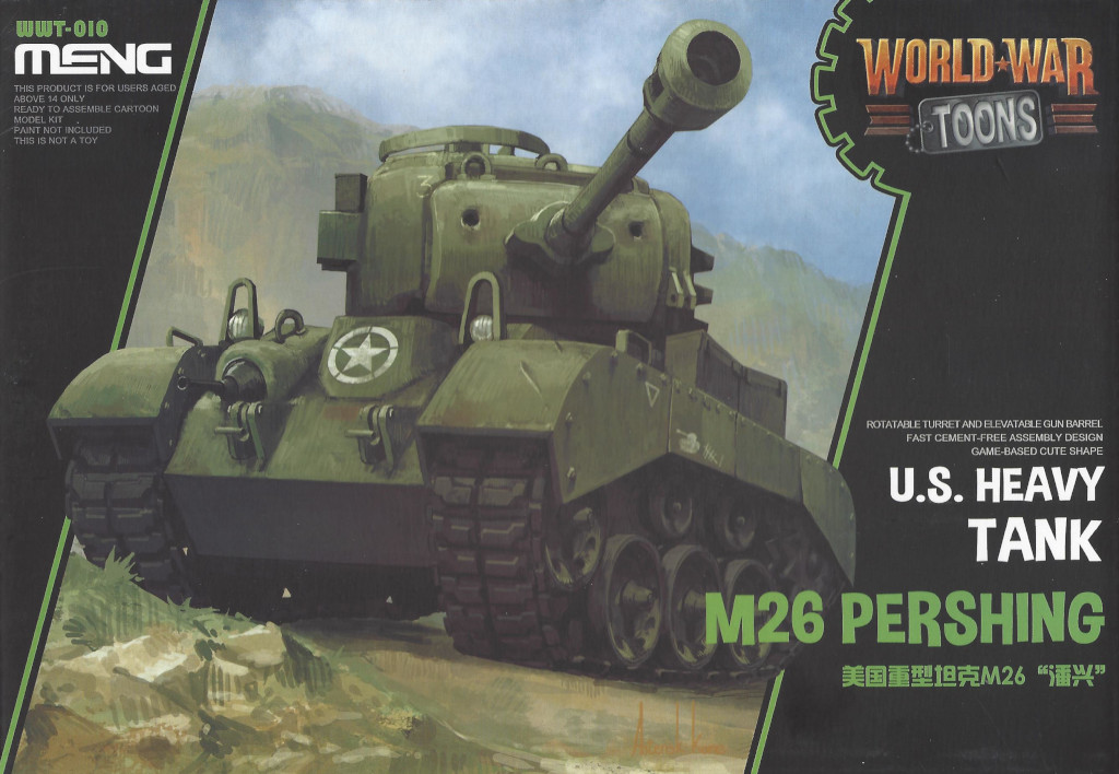 Box-3 World War Toons U.S. Heavy Tank M26 Pershing Meng Model (#WWT-010)