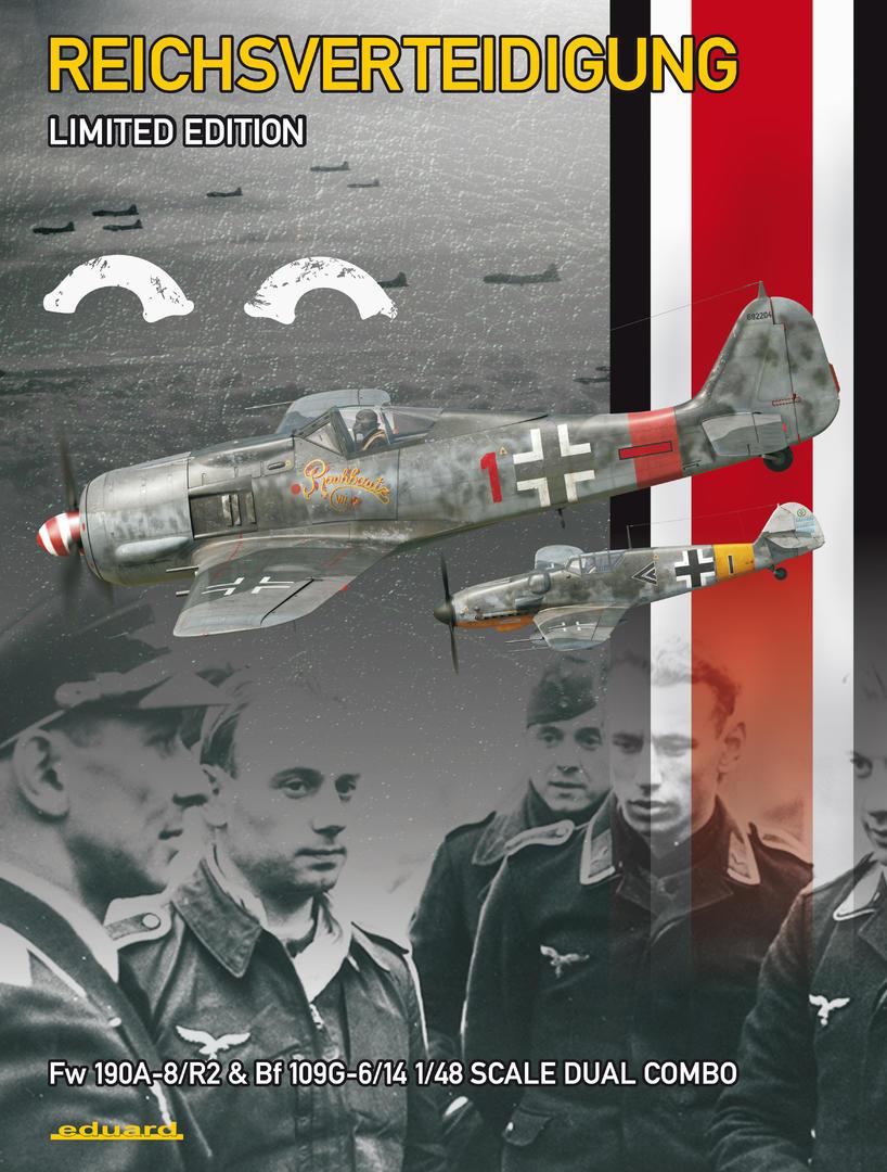 Eduard-11119-Reichsverteidigung-Boxart Reichsverteidigung Dual Combo Bf 109 G-6 / G-14 und FW 190 A-8/R2 in  1:48 von Eduard 11119
