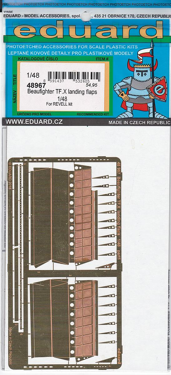 Eduard-48967-Beaufighter-TF.X-Landing-Flaps-4 Detailsets für Revells 48er Beaufighter von Eduard