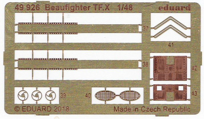 Eduard-49926-Beaufighter-TF-6 Detailsets für Revells 48er Beaufighter von Eduard