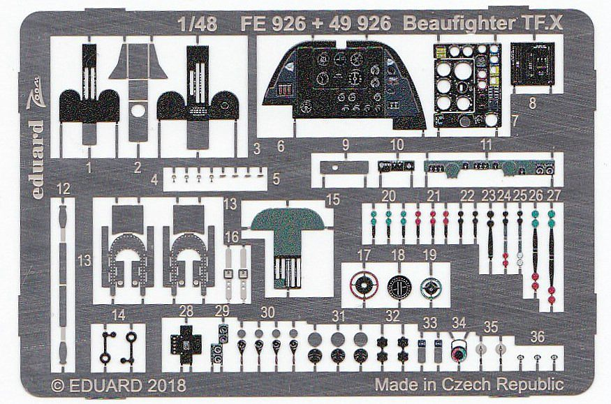 Eduard-49926-Beaufighter-TF-7 Detailsets für Revells 48er Beaufighter von Eduard