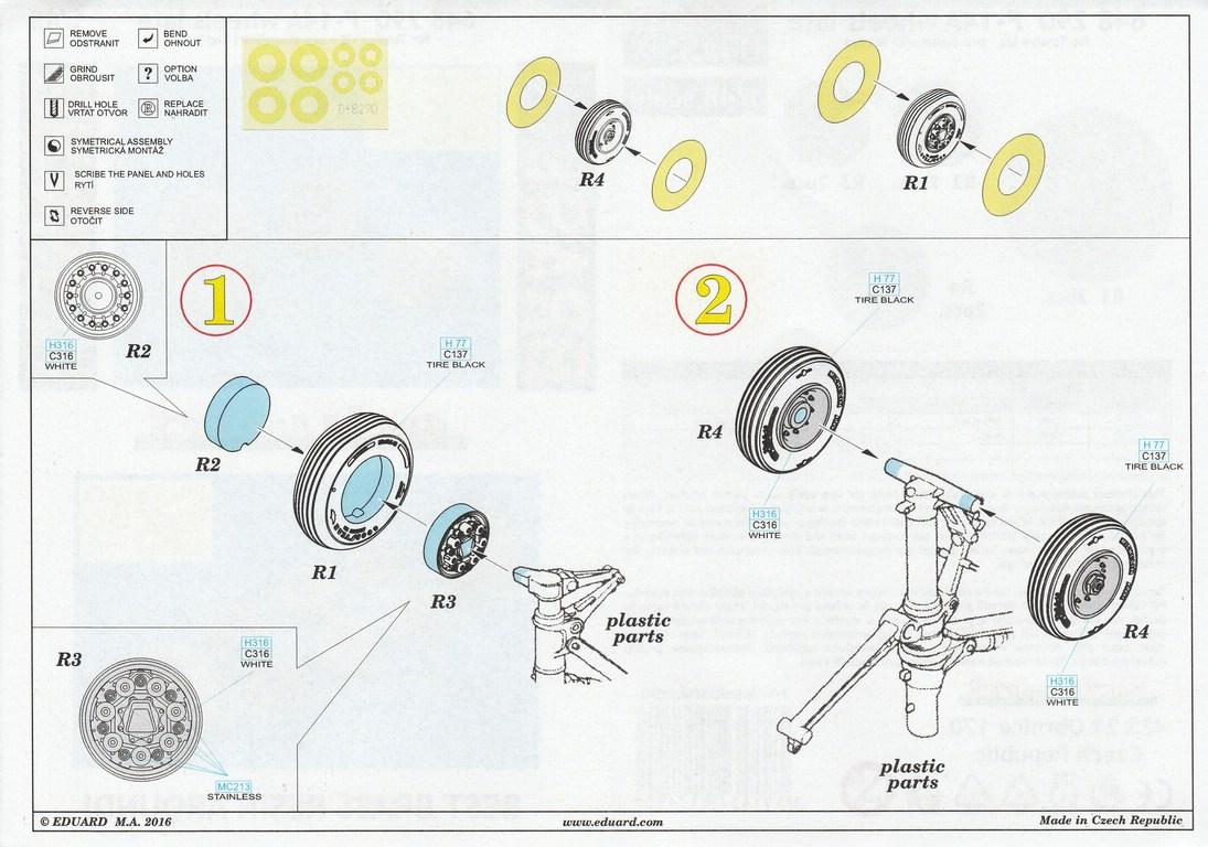 Eduard-648290-F-14A-Tomcat-wheels-late-6 F-14A Tomcat wheels late im Maßstab 1:48 von EDUARD 648290