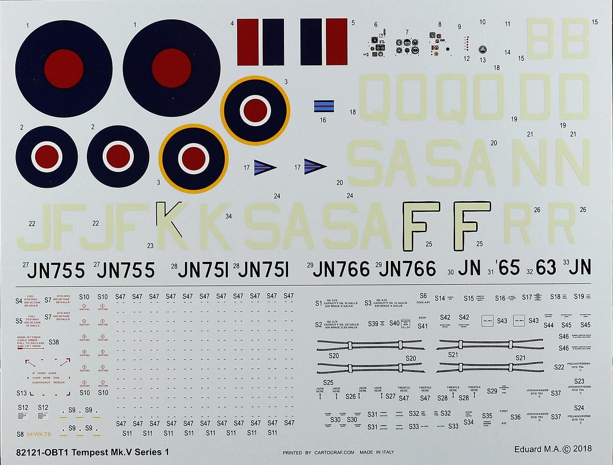 Eduard-82121-Tempest-Mk.-V-2 Hawker Tempest Mk. V Series 1 im Maßstab 1:48 von Eduard PROFIPACK 82121