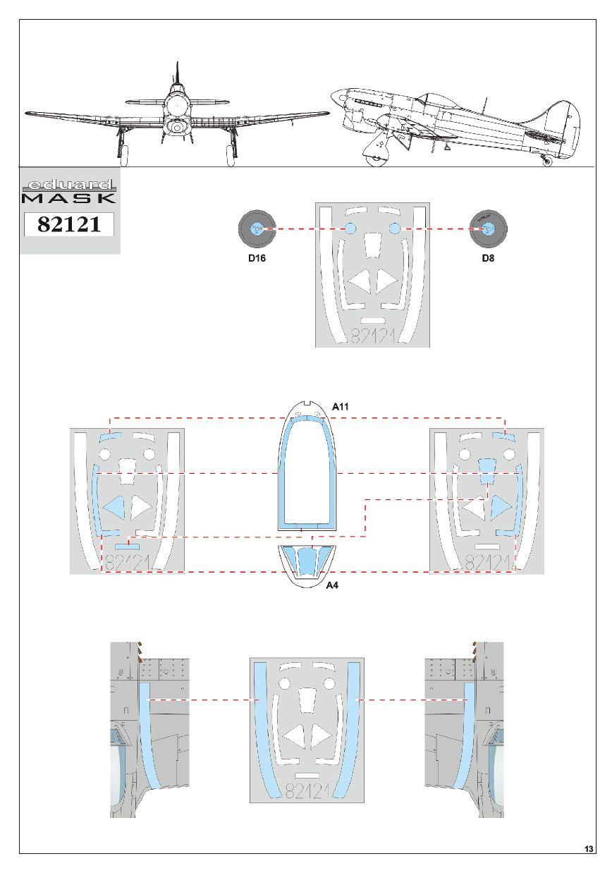 Eduard-82121-Tempest-Mk.-V-Bauanleitung-6 Hawker Tempest Mk. V Series 1 im Maßstab 1:48 von Eduard PROFIPACK 82121
