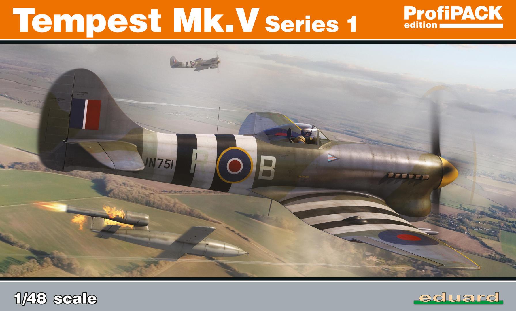 Eduard-82121-Tempest-Mk.-V Hawker Tempest Mk. V Series 1 im Maßstab 1:48 von Eduard PROFIPACK 82121