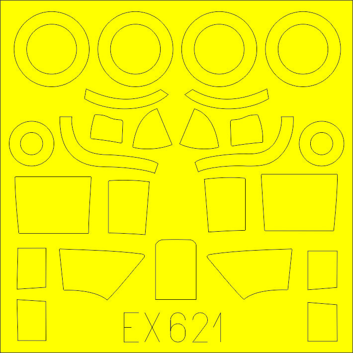 Eduard-EX-621-Beaufighter-TF.X-masken Detailsets für Revells 48er Beaufighter von Eduard