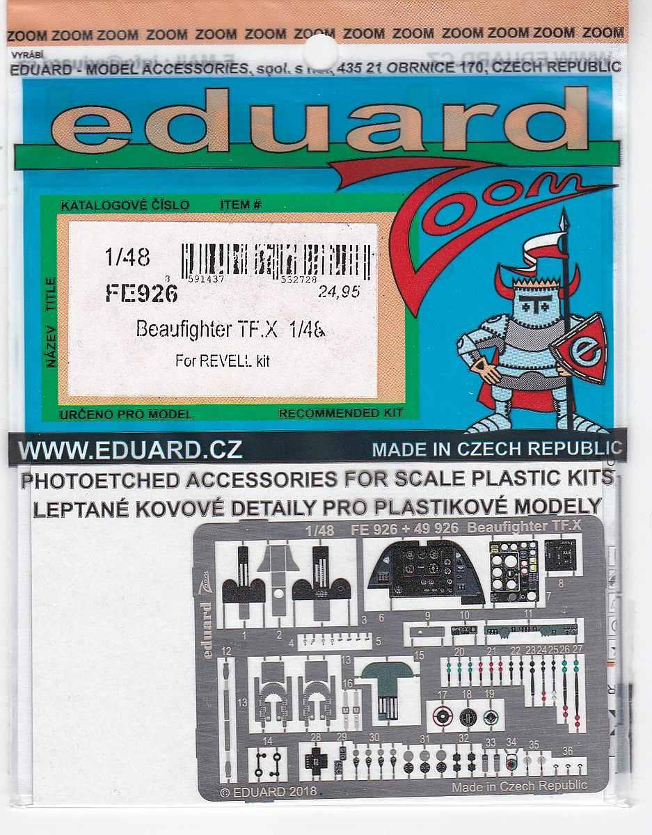 Eduard-FE-926-Beaufighter-TF.X-ZOOM Detailsets für Revells 48er Beaufighter von Eduard