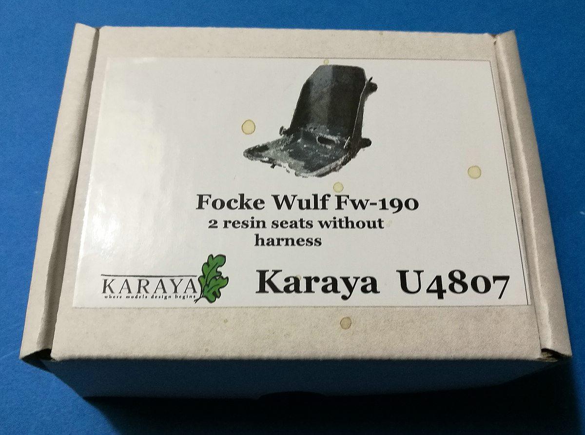 Karaya-U-4807-FW-190-2-Resin-seats-without-seatbelts3 2x Pilotensitz FW 190 ohne Gurtzeug im Maßstab 1:48 von Karaya U 4807