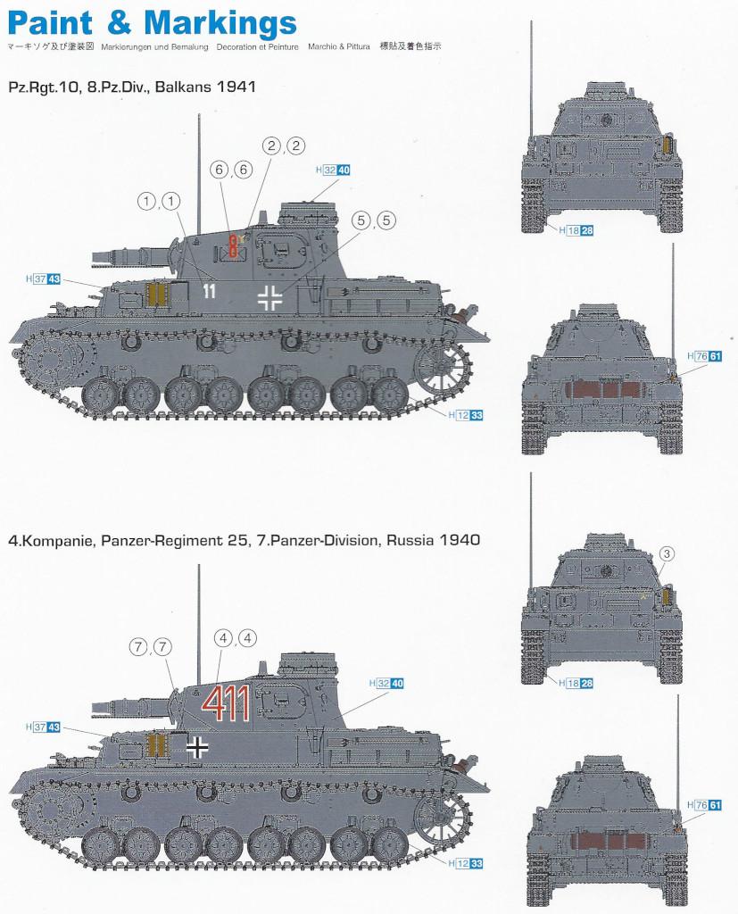 Markierungsvarianten Pz. Kpfw. IV Ausf. D 1:72 Dragon (#7530)