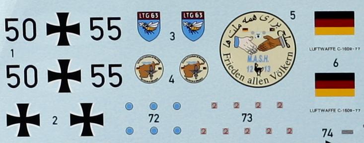 Revell-03916-Transall-ESS-NG-Decals-2 Transall C-160 ELOKA ESS / NG im Maßstab 1:72 von Revell 03916