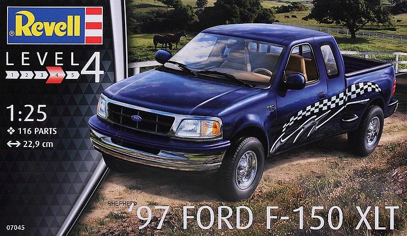 Revell-07045-Ford-F-150-XLT-1997-1 `97 Ford F-150 XLT im Maßstab 1:25 von Revell 07045