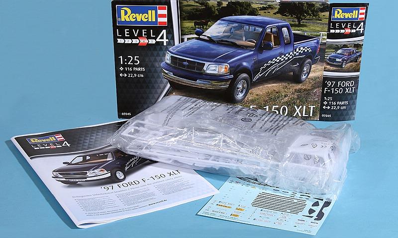 Revell-07045-Ford-F-150-XLT-1997-2 `97 Ford F-150 XLT im Maßstab 1:25 von Revell 07045