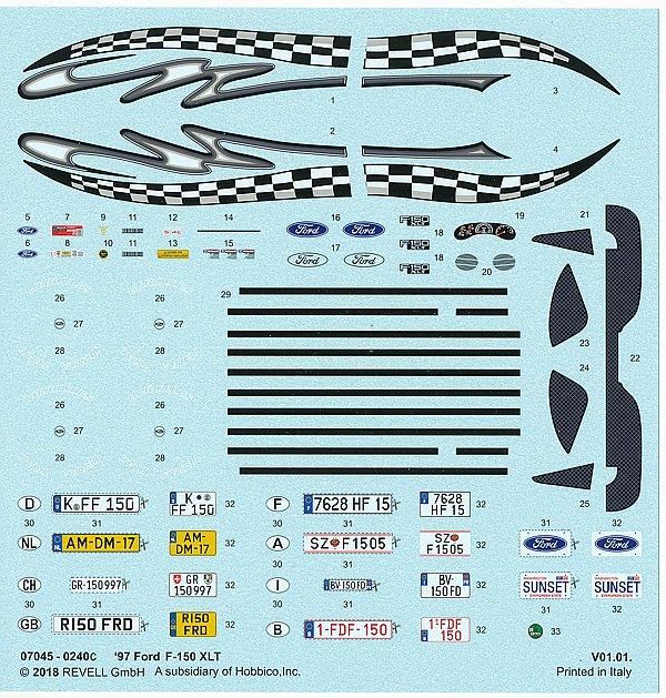 Revell-07045-Ford-F-150-XLT-1997-3 `97 Ford F-150 XLT im Maßstab 1:25 von Revell 07045