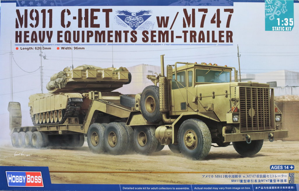 Review_Hobby-Boss_M911_C-HET_066 M911 C-HET with M747 Heavy Equipment Semi Trailer - Hobby Boss 1/35