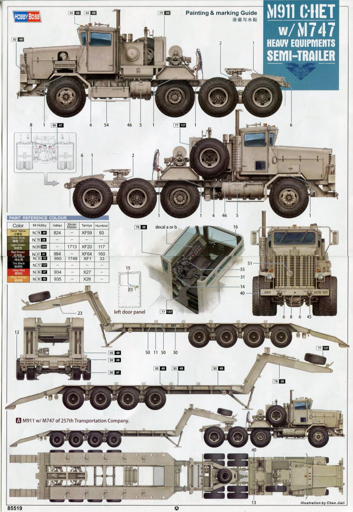 Review_Hobby-Boss_M911_C-HET_067 M911 C-HET with M747 Heavy Equipment Semi Trailer - Hobby Boss 1/35