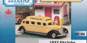 1937 FitzJohn Model 100 Sedan Bus im HO-Maßstab 1:87 von Sylvan SE-06
