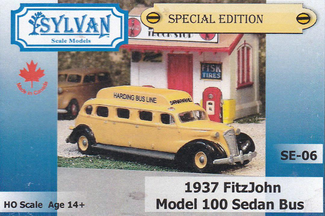 Sylvan-SE-06-1937-FitzJohn-Model-100-Sedan-Bus-18 1937 FitzJohn Model 100 Sedan Bus im HO-Maßstab 1:87 von Sylvan SE-06