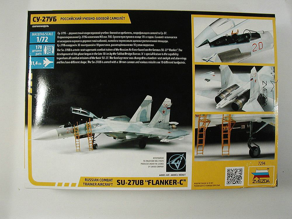 Zvezda-7294-Su-27UB-2 Suchoj Su-27UB im Maßstab 1:72 von Zvezda 7294