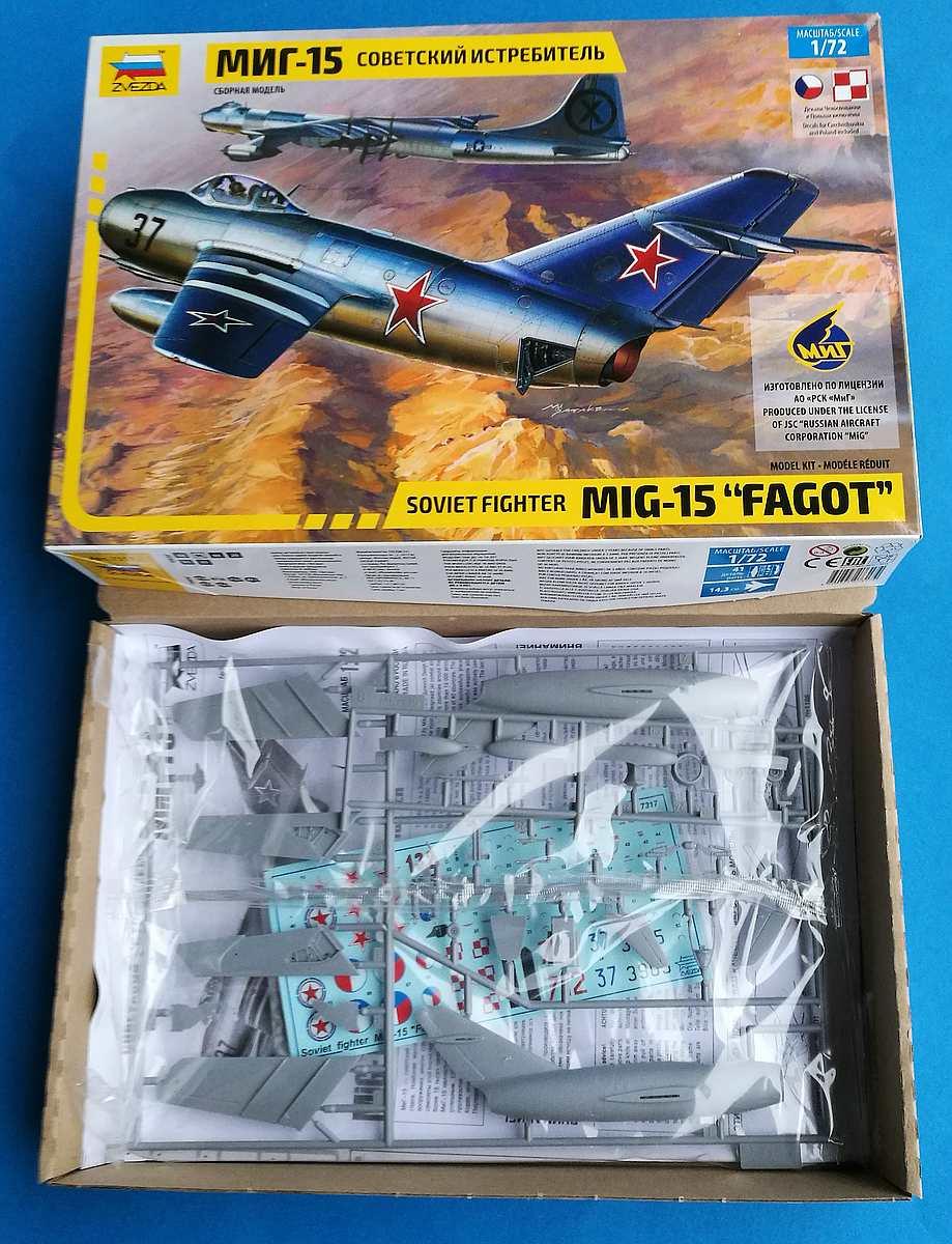 Zvezda-7317-MiG-15-1 MiG-15 in 1:72 von ZVEZDA 7317