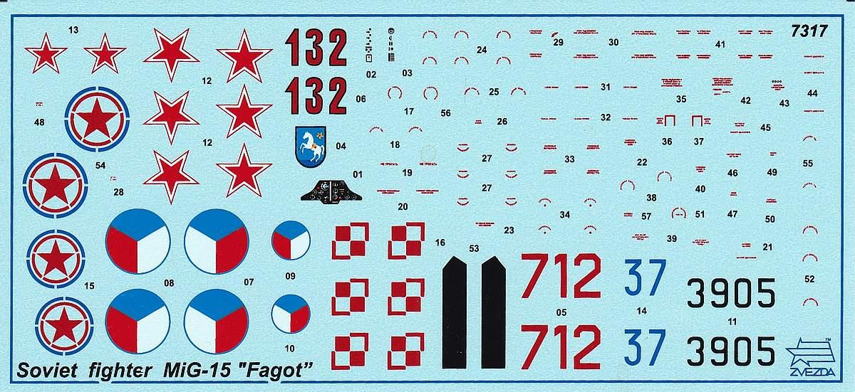 Zvezda-7317-MiG-15-23 MiG-15 in 1:72 von ZVEZDA 7317