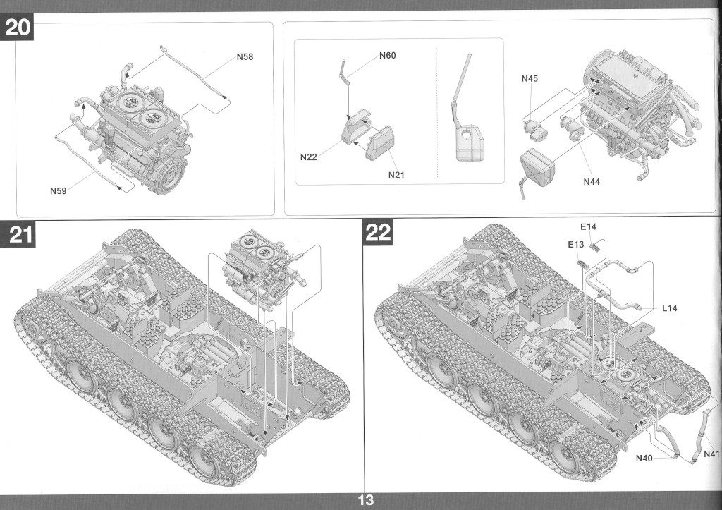 Anleitung14-1-1024x723 Panther Ausf. D Late Prod. Sd. Kfz. 171 w. Zimmerit Full Interior 1:35 Takom #2104