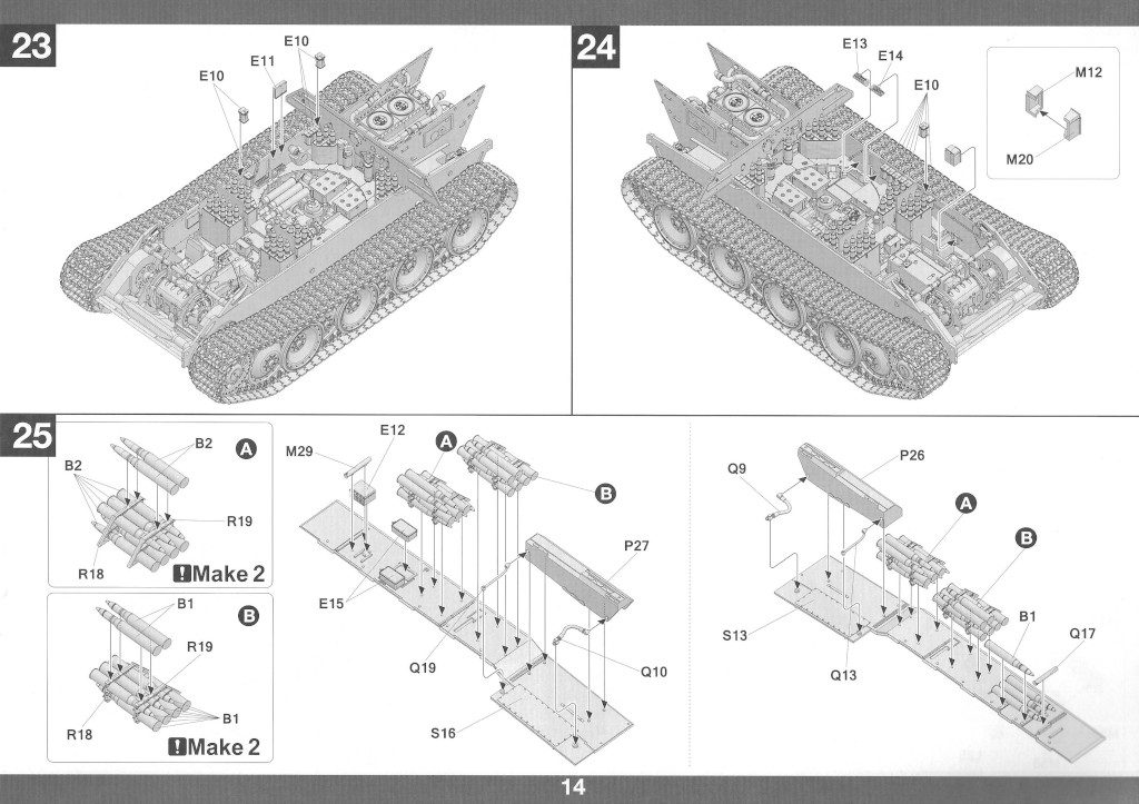Anleitung15-1-1024x723 Panther Ausf. D Late Prod. Sd. Kfz. 171 w. Zimmerit Full Interior 1:35 Takom #2104