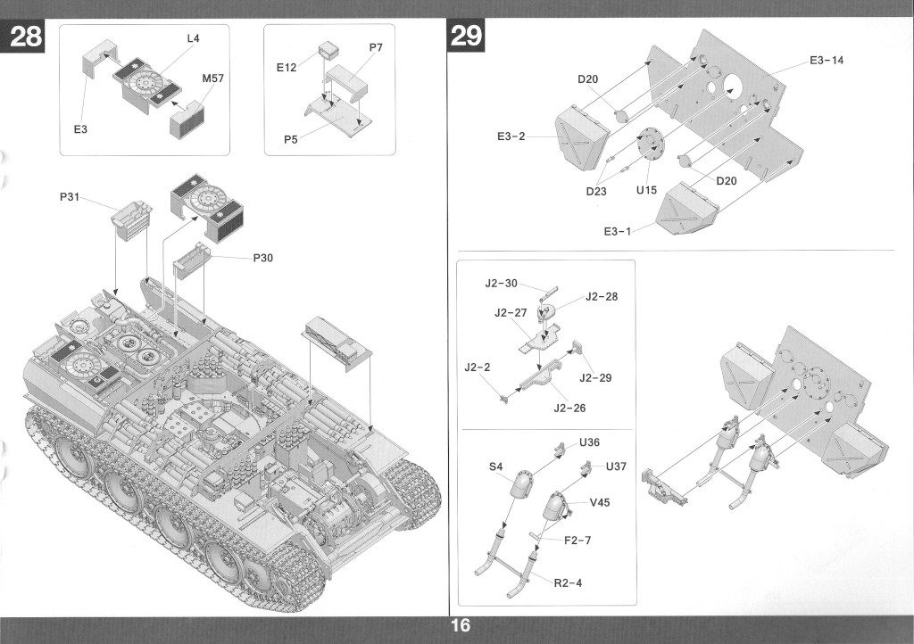 Anleitung17-1-1024x722 Panther Ausf. D Late Prod. Sd. Kfz. 171 w. Zimmerit Full Interior 1:35 Takom #2104